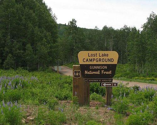 Camp gmug national forest gunnison rd western colorado for Lake fishing near los angeles